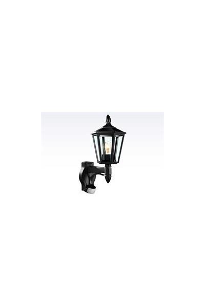 Sensorlampe, ude L 15 sort  60W - E27