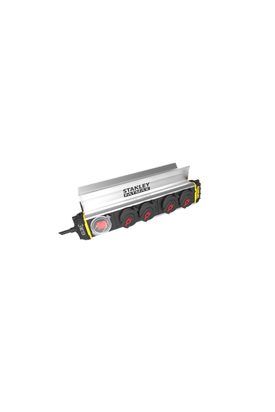 Stanley stikdåse 4-stik m. 3 m ledning - Clamp power bar IP44