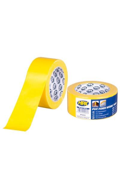 Forskallingtape gul PVC 50 mm x 33 m
