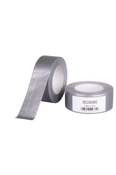 Lærredstape, Duct tape 50 mm x 50 m sølv