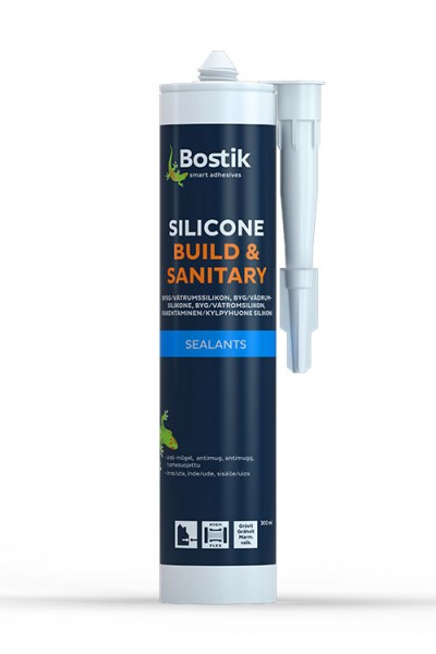 SILICONE BUILD & SANITARY - 0,3 ltr - Hvid